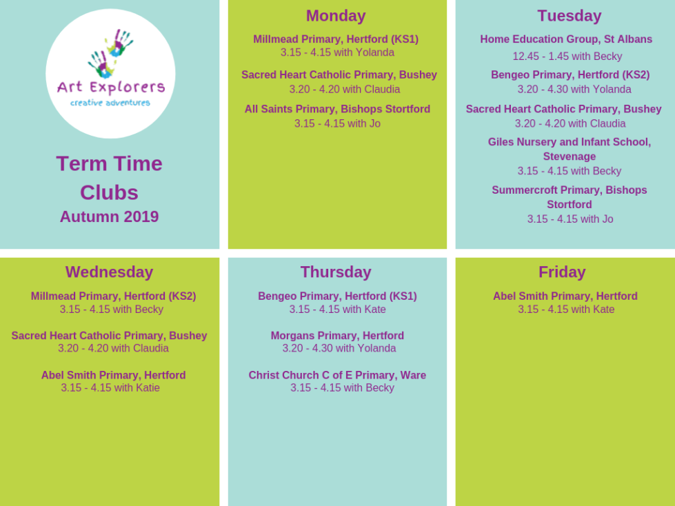 After School Clubs updated